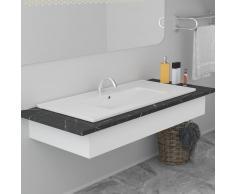 vidaXL Lavabo encastrado de cerámica blanco 90,5x46,3x17,5 cm