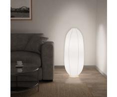 vidaXL Lámpara de pie blanca E14