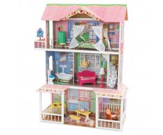 KidKraft Casa de muñecas 3 pisos Sweet Savannah 88,39x33,02x111,76 cm