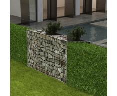 vidaXL Cesta/jardinera/arriate de gaviones acero 150x30x100 cm