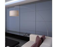 vidaXL Lámpara de pie ajustable 192 cm beige