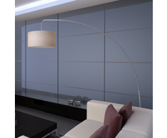 vidaXL Lámpara de pie ajustable en forma de arco color crema 192 cm
