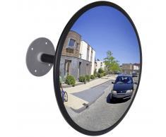 vidaXL Espejo de tráfico convexo de interior acrílico negro 30 cm