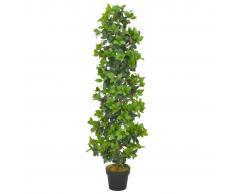 vidaXL Planta artificial árbol de laurel con macetero 150 cm verde
