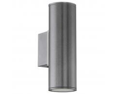 EGLO Lámpara de pared LED exterior Riga gris oscuro 94103