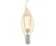 EGLO Bombilla LED de estilo vintage E14 CF37 11559, Color ámbar