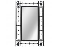 vidaXL Espejo de pared rectangular 50x80 cm negro