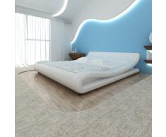 vidaXL Cama colchón viscoelástico cuero artificial 140x200 cm blanca