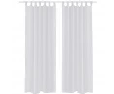 vidaXL 2 Cortinas blancas transparentes 140 x 175 cm