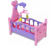 vidaXL Cama de juguete para muñeca rosa + morada