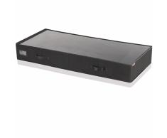 Leifheit Caja de almacenaje bajo cama grande negra 106x45x15cm 80011