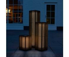 Luxform Lámpara solar LED de suelo para jardín Martinique negro 30040