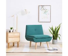 vidaXL Butaca tapizada de tela verde