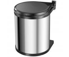 Hailo Papelera de armario Compact-Box tamaño M 15L acero inox 3555-101