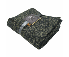 Overseas Colcha de tartán microfibra 140x220 cm negra