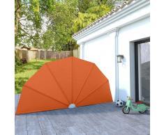 vidaXL Toldo lateral plegable terraza color terracota 200 cm