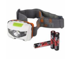 Ansmann Linterna frontal LED gris y blanca 1600-0077