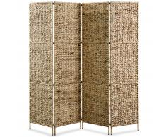 vidaXL Biombo divisor 4 paneles jacinto de agua 160x160 cm