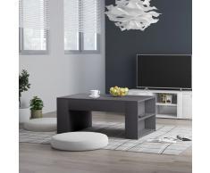 vidaXL Mesa de centro de aglomerado gris 100x60x42 cm