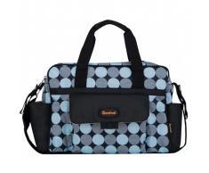 08c01c281 Baninni Bolsa para pañales Amalfi círculos azules BNDB005-BLCL