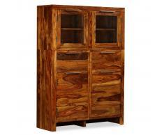 vidaXL Aparador de madera maciza de sheesham 100x35x140 cm