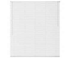 vidaXL Persiana aluminio 100x130 cm blanca