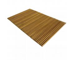vidaXL Alfombrilla de baño de madera de acacia 80x50 cm