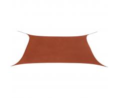 vidaXL Toldo de vela rectangular tela Oxford 2x4 m terracota