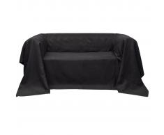 vidaXL Funda color antracita para sofá de micro-gamuza, 140 x 210 cm
