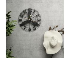 vidaXL Reloj de pared de jardín vintage 46 cm