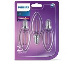 Philips Bombillas de vela LED 3 uds Classic 2 W 250 lm 929001238373