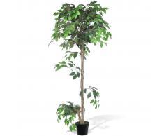 vidaXL Árbol/ Planta de ficus artificial en maceta, 160 cm