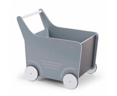 CHILDWOOD Carrito andador de madera juguete gris WODSTRM