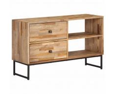vidaXL Mueble para TV de madera de teca reciclada 90x30x55 cm
