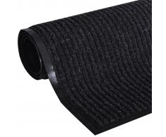 vidaXL Alfombra de entrada PVC negra, 90 x 120 cm