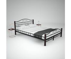 vidaXL Cama de metal con colchón de espuma viscoelástica 140x200cm