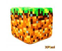 Xpixel Cojin Pixel Cubo de Peluche - Tierra