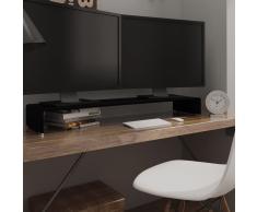vidaXL Soporte para TV/Elevador monitor cristal negro 120x30x13 cm