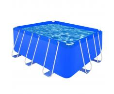 vidaXL Piscina sobre suelo rectangular estructura acero 400x207x122 cm