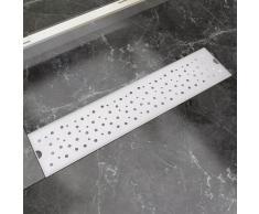 vidaXL Desagüe lineal de ducha burbuja 530x140 mm acero inoxidable