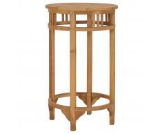 vidaXL Mesa alta de bar de madera maciza de teca Ø 60 cm