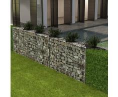 vidaXL Cesta/jardinera/arriate de gaviones de acero 300x30x100 cm