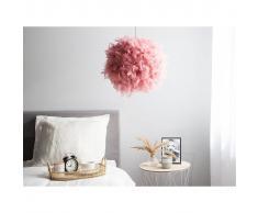 Beliani Lámpara de techo rosa DRAVA