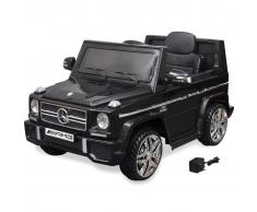 vidaXL Coche eléctrico bimotor de juguete Mercedes Benz G65 SUV negro