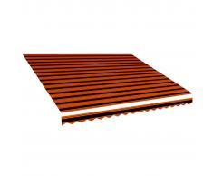 vidaXL Toldo de lona naranja y marrón 400x300 cm