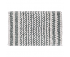 Sealskin Alfombra de baño gris a rayas, 50 x 80 cm, 294445414