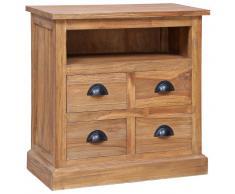 vidaXL Mesita de noche madera de teca maciza 60x30x60 cm