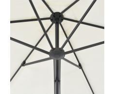 vidaXL Sombrilla de jardín con palo de acero 300 cm arena