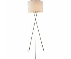 GLOBO Lámpara de pie GUSTAV metal blanco 24685