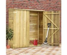 vidaXL Caseta herramientas jardín madera pino impregnada 163x50x171 cm